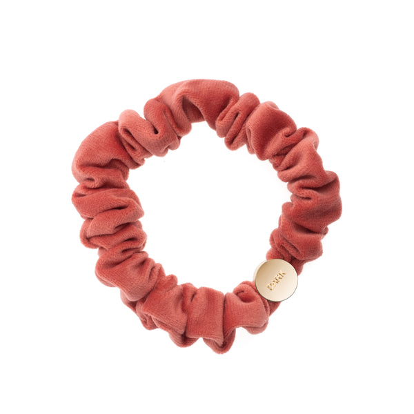 VELVET MINI SCRUNCHIE TERRACOTTA
