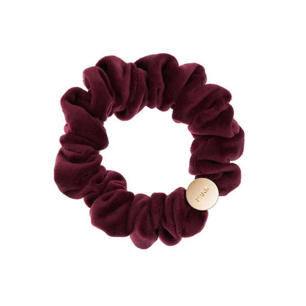 VELVET MINI SCRUNCHIE WINE