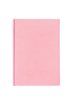 VELVET NOTEBOOK PALE PINK M