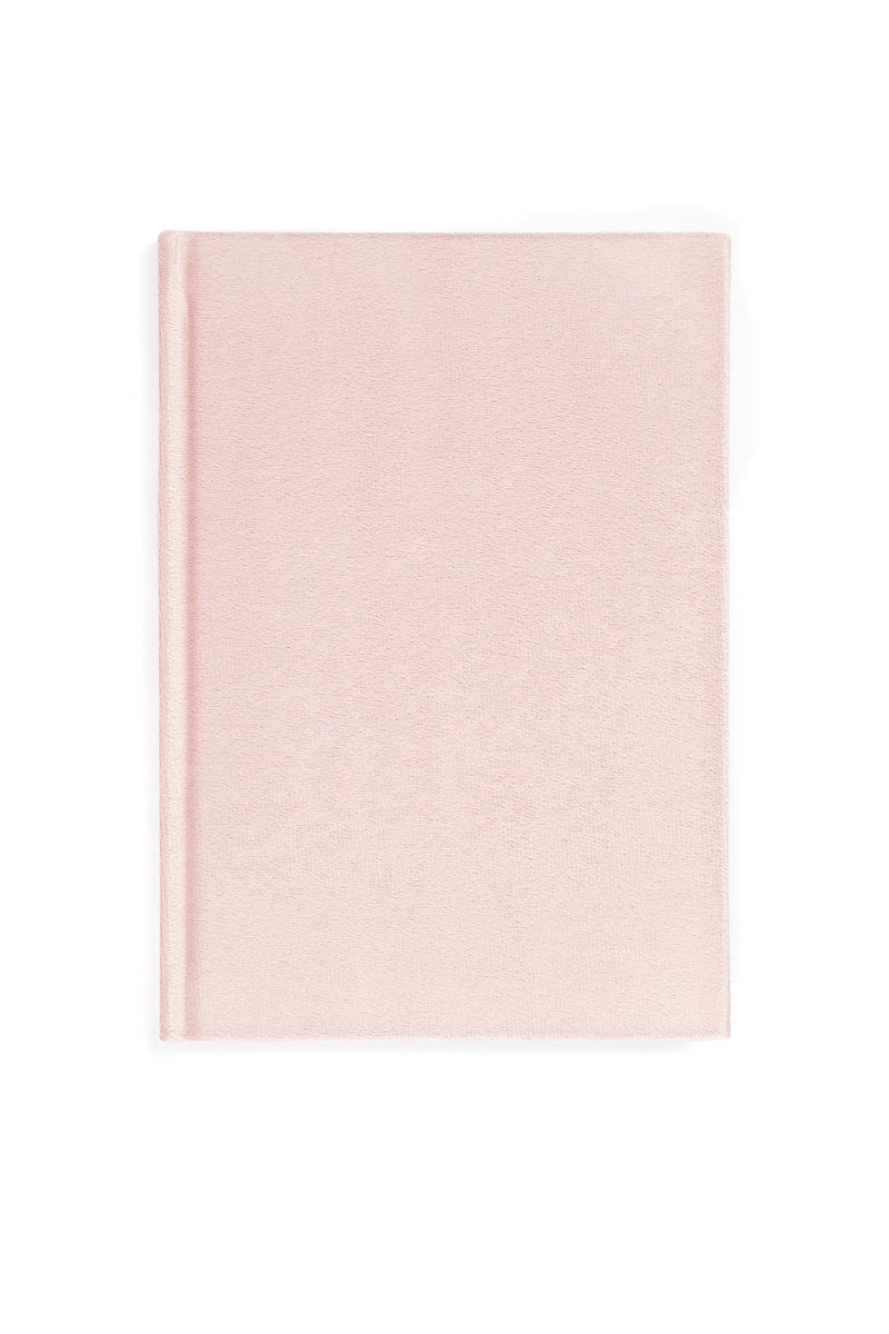VELVET NOTEBOOK PALE ROSE M