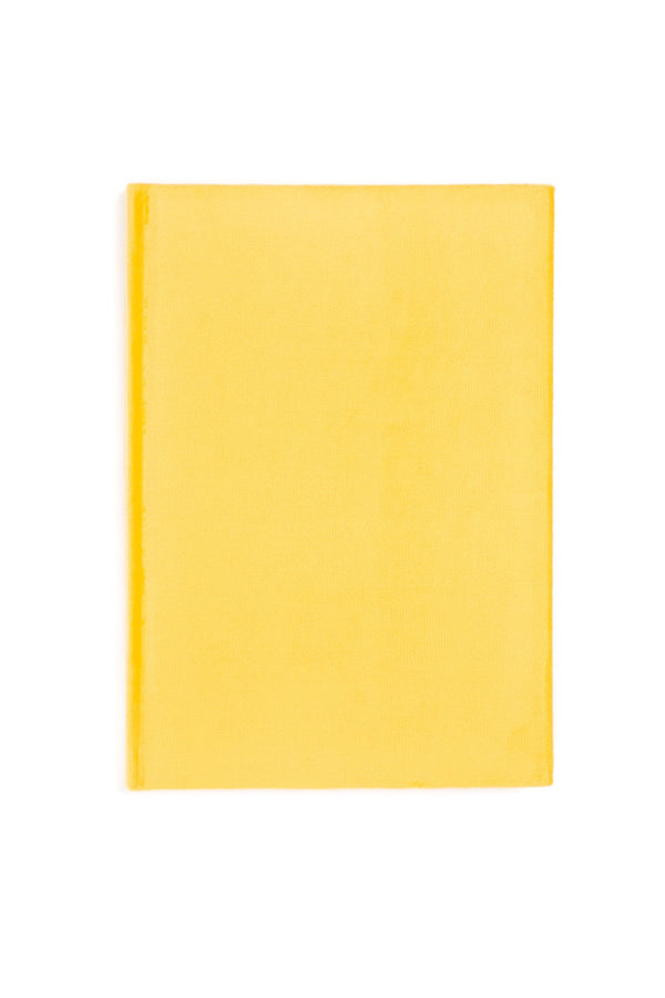 VELVET NOTEBOOK SUN YELLOW M