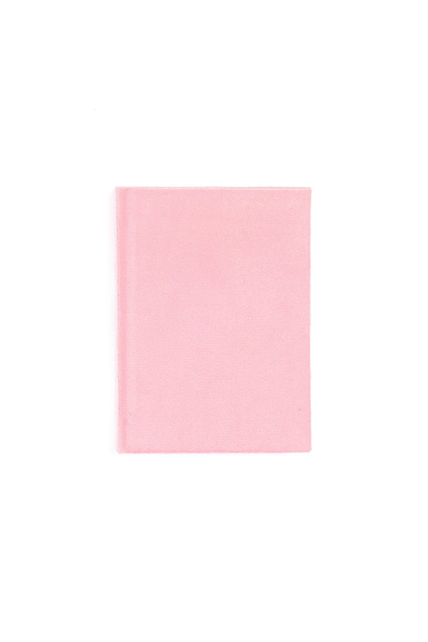 VELVET NOTEBOOK PALE PINK S