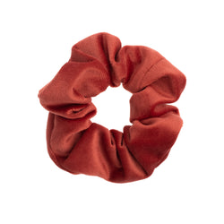VELVET SCRUNCHIE DARK TERRACOTTA