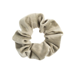 VELVET SCRUNCHIE FADED ARMY