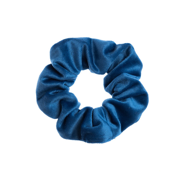 VELVET SCRUNCHIE STRONG BLUE