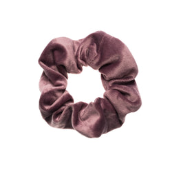 VELVET SCRUNCHIE DUSTY GRAPE