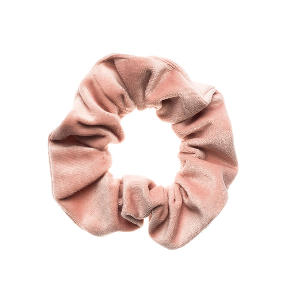 VELVET SCRUNCHIE PALE ROSE