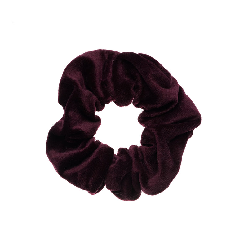 VELVET SCRUNCHIE RICH PLUM