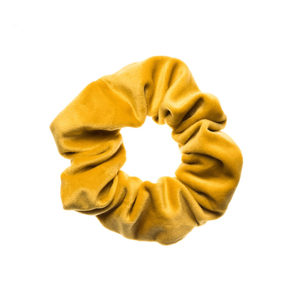 VELVET SCRUNCHIE YELLOW