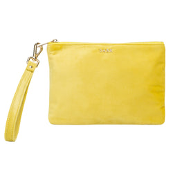 VELVET SMALL POUCH SUN YELLOW