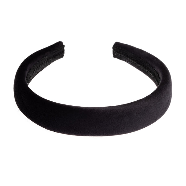 VELVET HAIR BAND BROAD BLACK