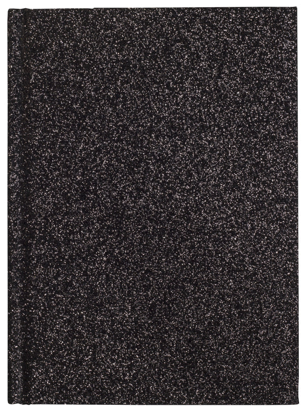 GLITTER NOTEBOOK A6 BLACK
