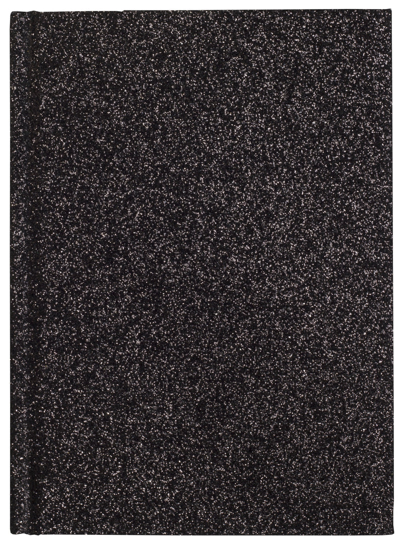 GLITTER NOTEBOOK BLACK S