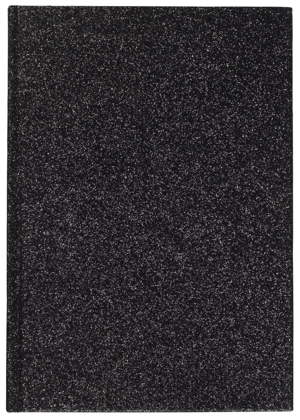 GLITTER NOTEBOOK A5 BLACK