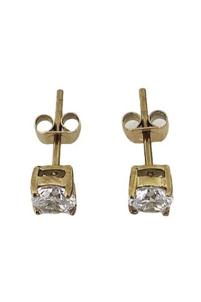 CRYSTAL STUD SQUARE GOLD