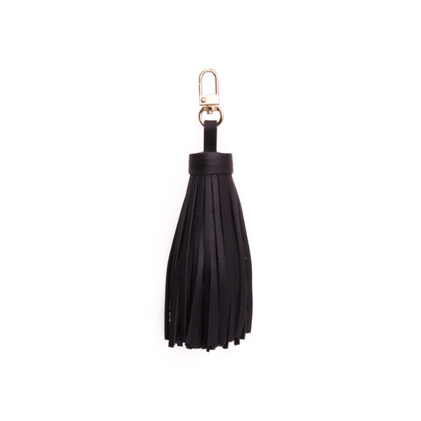 LEATHER TASSEL NAPPA BLACK W/GOLD