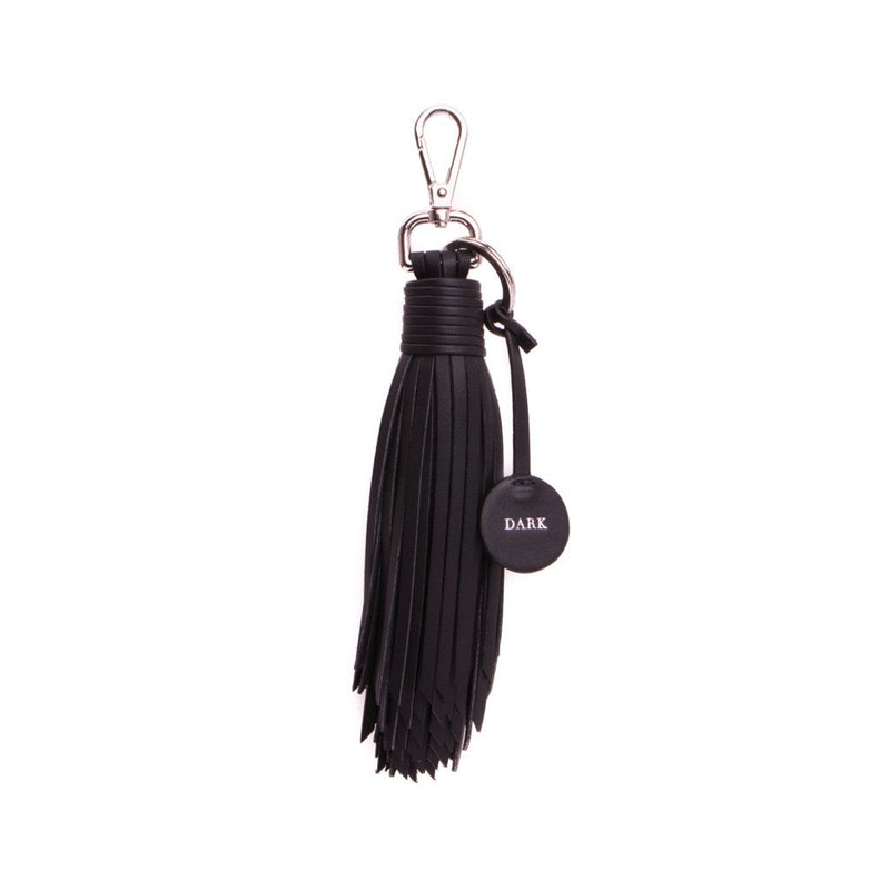 LEATHER KEY TASSEL NAPPA BLACK W/SILVER