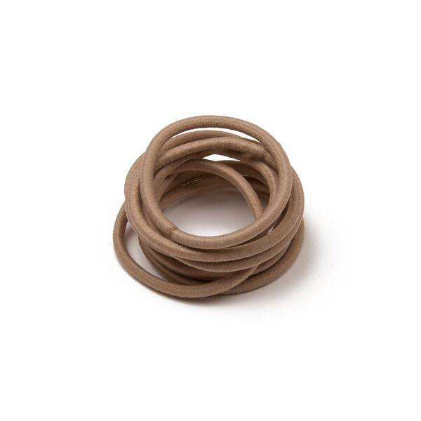 MATTE HAIR TIES BEIGE