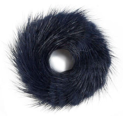 MINK HAIR TIE NAVY BLUE