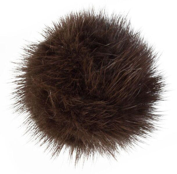 SHOE POM POM CHOCOLATE BROWN SMALL