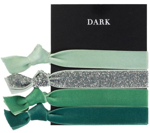 VELVET HAIR TIES GREENS