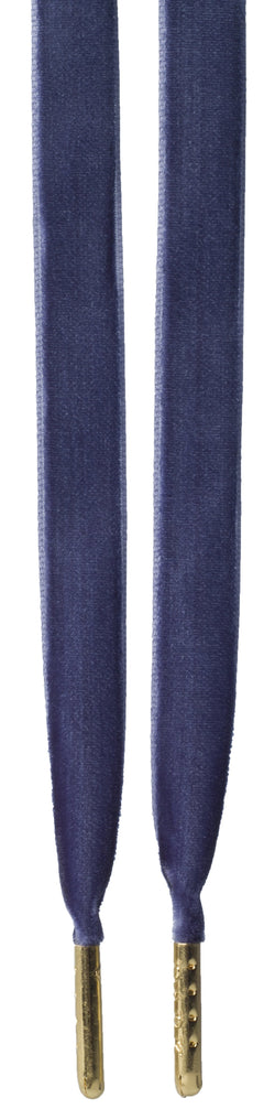 VELVET SHOE LACES NAVY BLUE