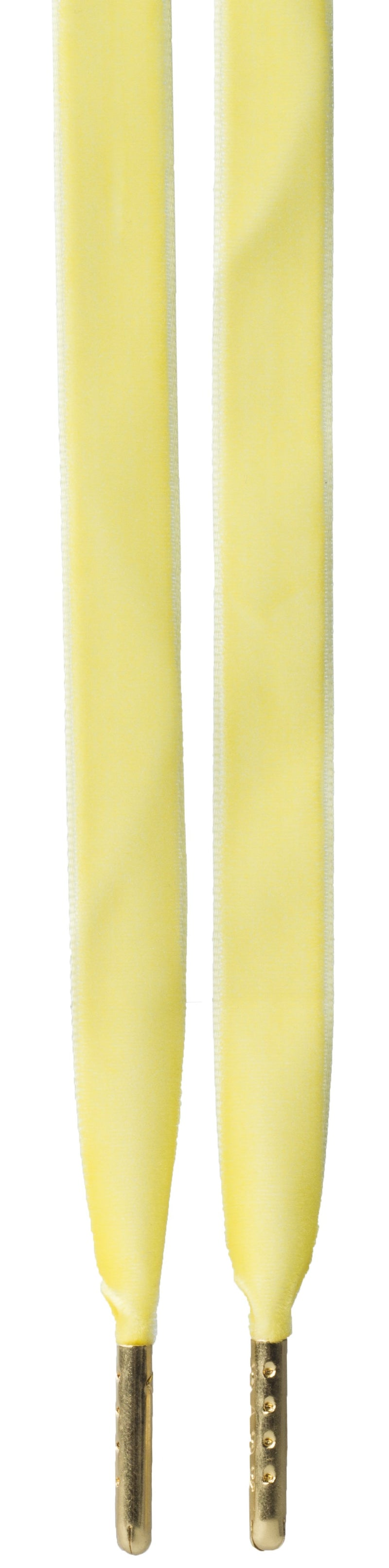 VELVET SHOE LACES YELLOW