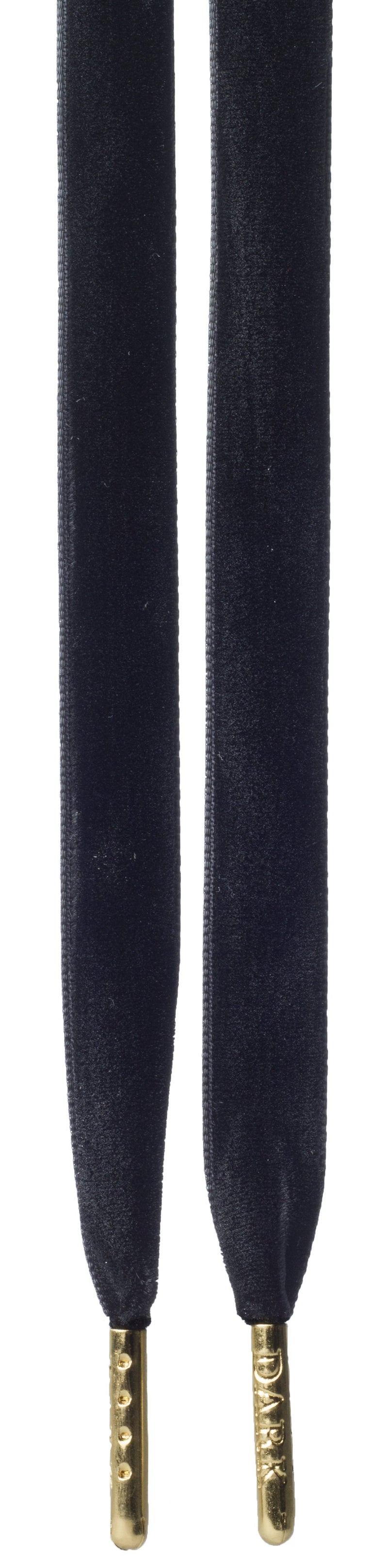 VELVET SHOE LACES BLACK