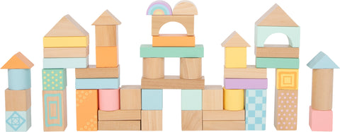 Pastel Wooden Building Blocks