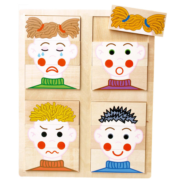 Wooden Puzzle Faces