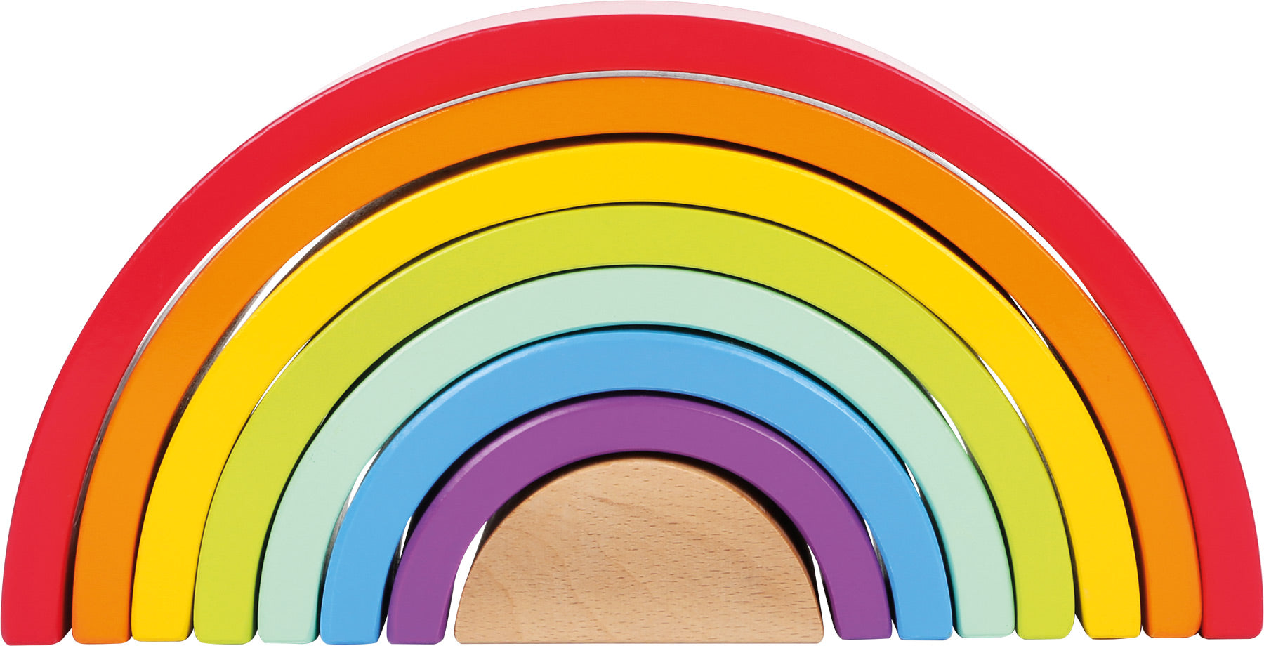 Wooden Building Blocks Rainbow