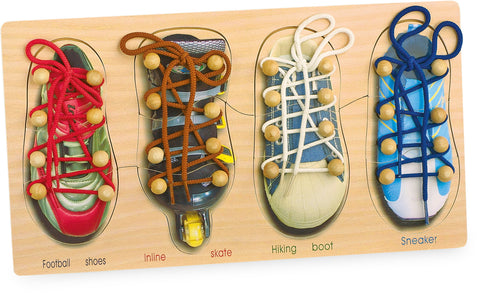 Tying Shoes Threading Game