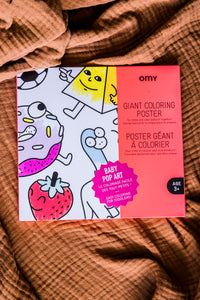 Giant Coloring Poster - Baby Pop Art