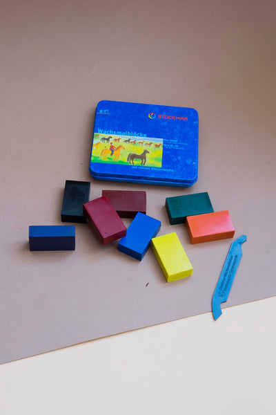 Stockmar Wax Blocks - 8 colours standard assortment