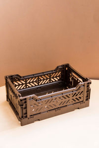 Folding Crate, Small - Brown
