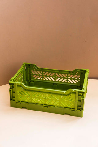 Folding Crate, Small - Olive
