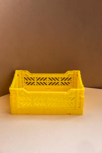 Folding Crate, Small - Yellow