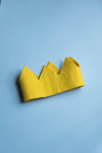 Felted Yellow Crown