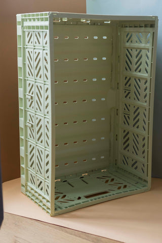 Folding Crate, Large - Lime Cream