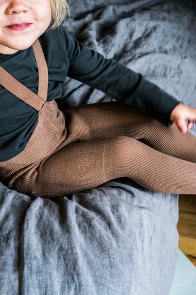 Tights With Braces - Hazelnut