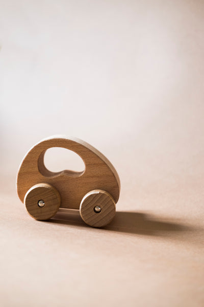 Natural Wooden Car Grip Toy