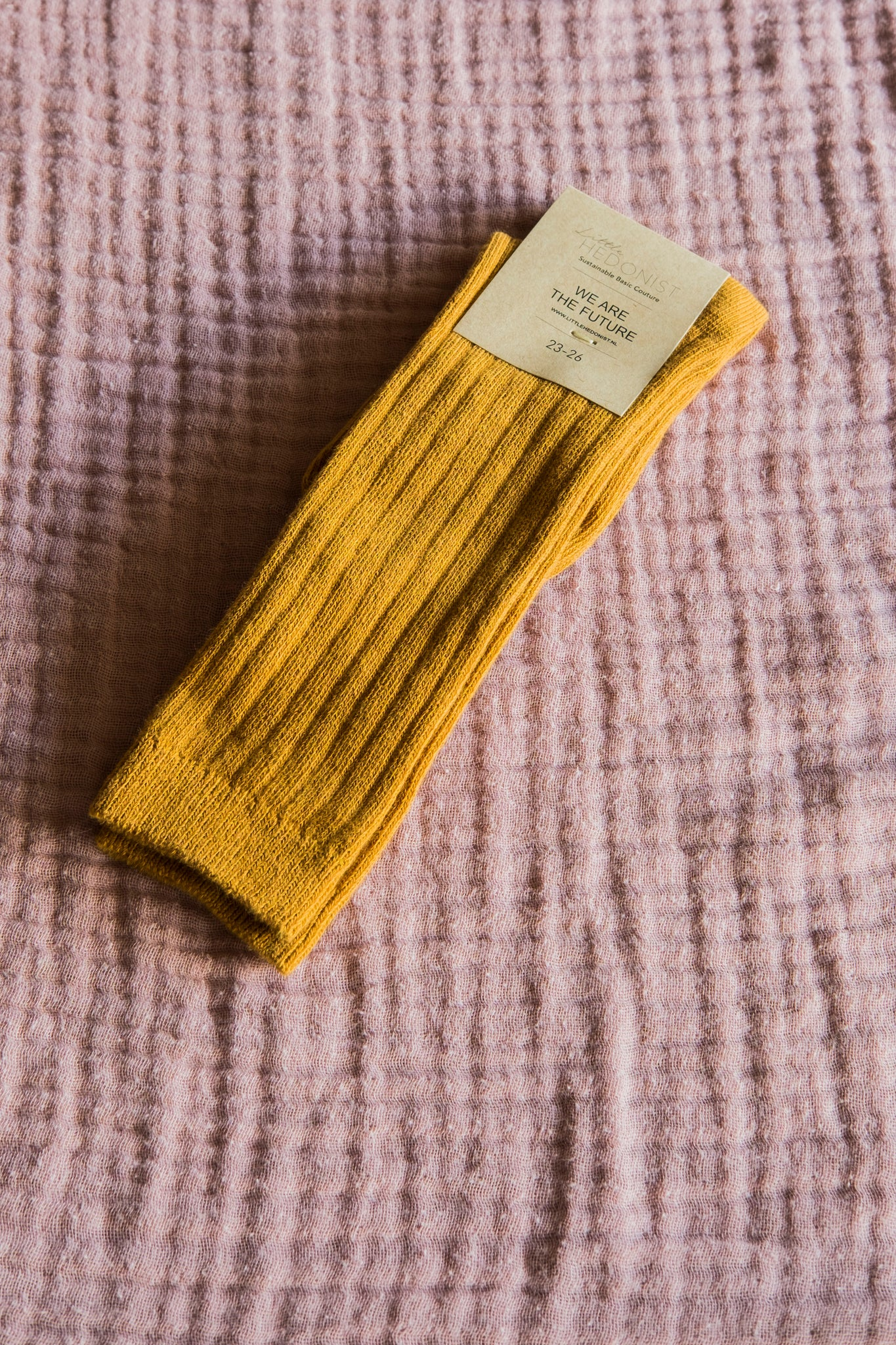 Ribbed Kneesocks Ochre
