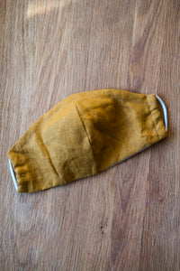 Kids Linen Face Mask - Mustard