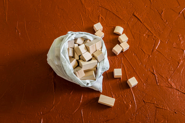 Wooden Blocks in a Bag