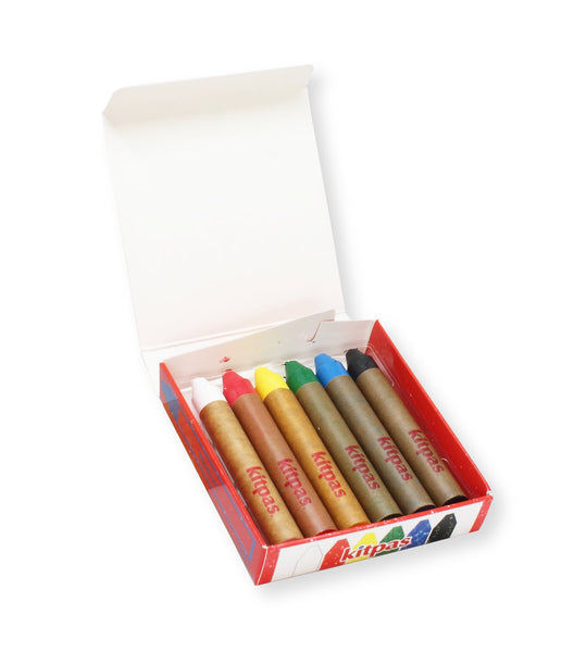 Kitpas Medium Crayons, 6 colors