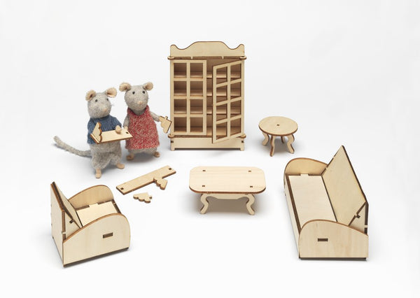 The Mouse Mansion - Living Room Furniture Kit