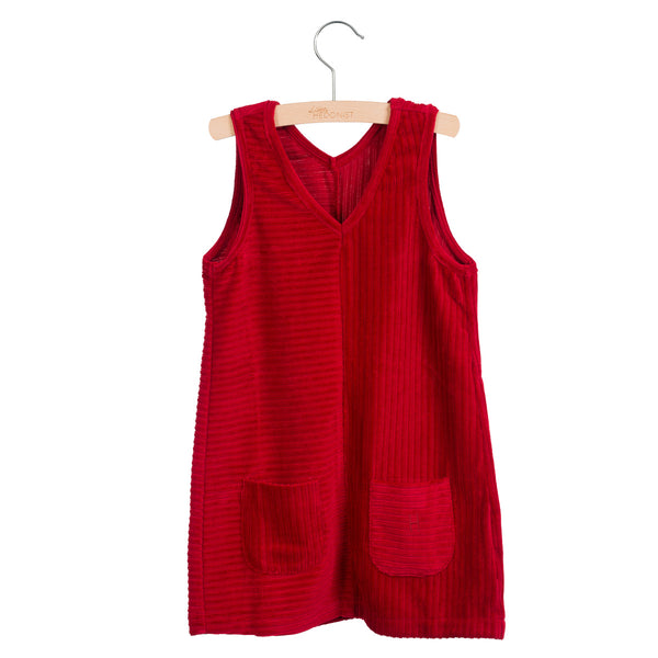 Pinafore Dress Tango Red