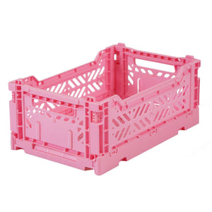 Folding Crate, Small - Baby Pink