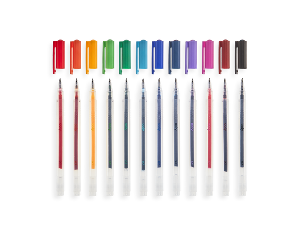 Colour Luxe fine-tip gel pens - set of 12