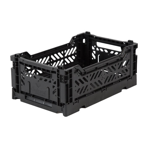 Folding Crate, Small - Black